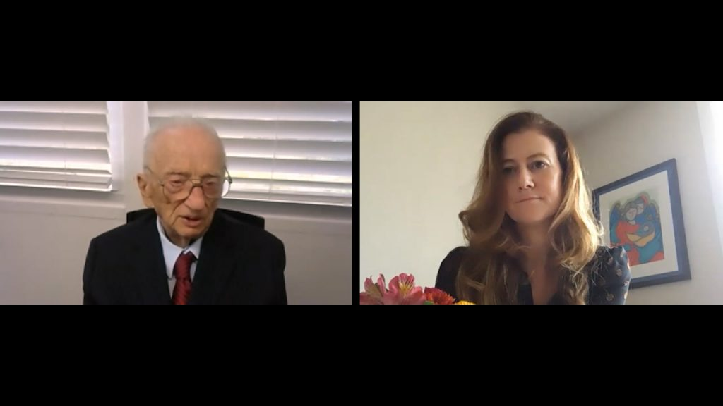 Ben Ferencz and Naomi Kikoler, Director, Simon-Skjodt Center for the Prevention of Genocide