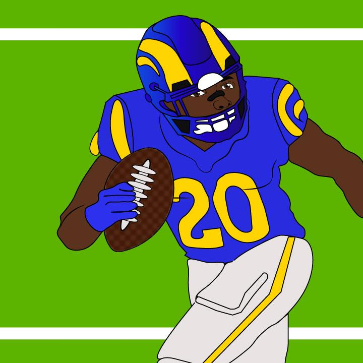 Rams illustrated by Kaelen Felix for 360 Magazine