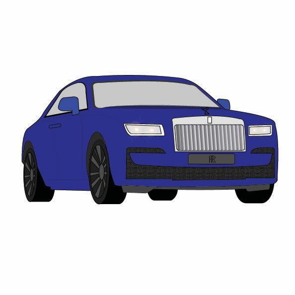 Rolls-Royce illustration by Gabrielle Marchan for 360 MAGAZINE