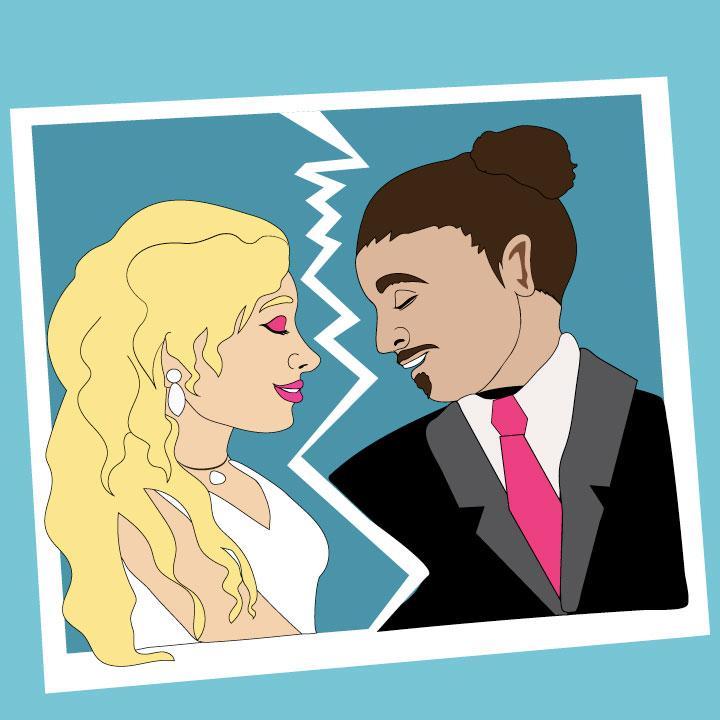 Kaelen Felix illustrates divorce story for 360 magazine