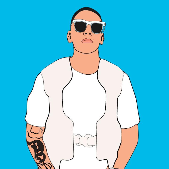 Daddy Yankee illustration by Kaelen Felix for 360 Magazine.