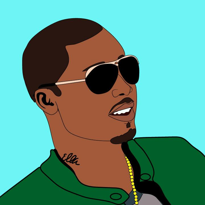 Kaelen Felix illustrates Nas for 360 Magazine