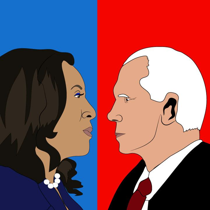 Pence vs. Harris illustration for 360 mag