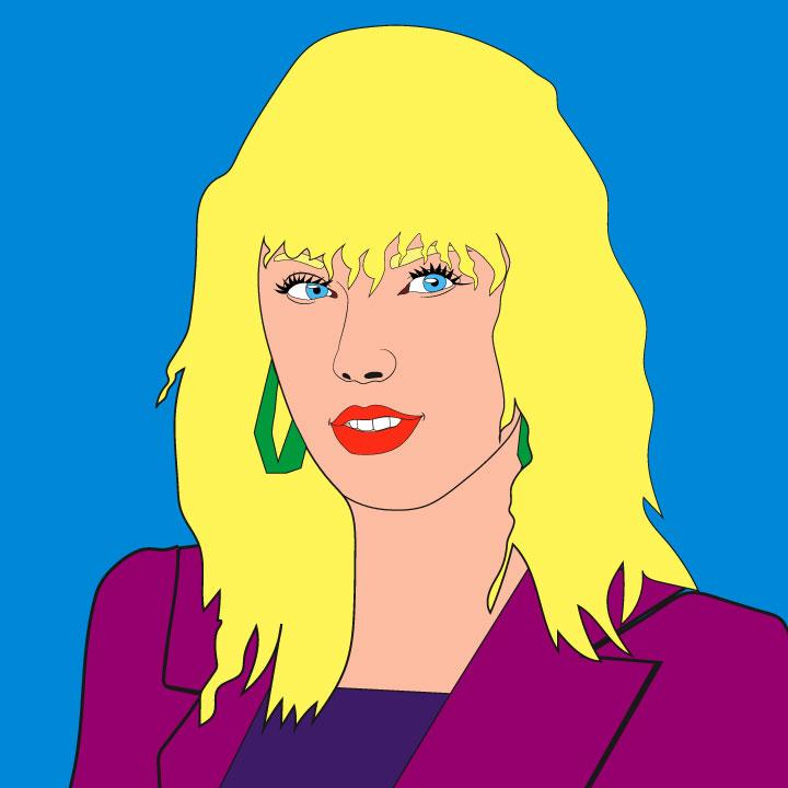 Taylor Swift illustration for 360 magazine