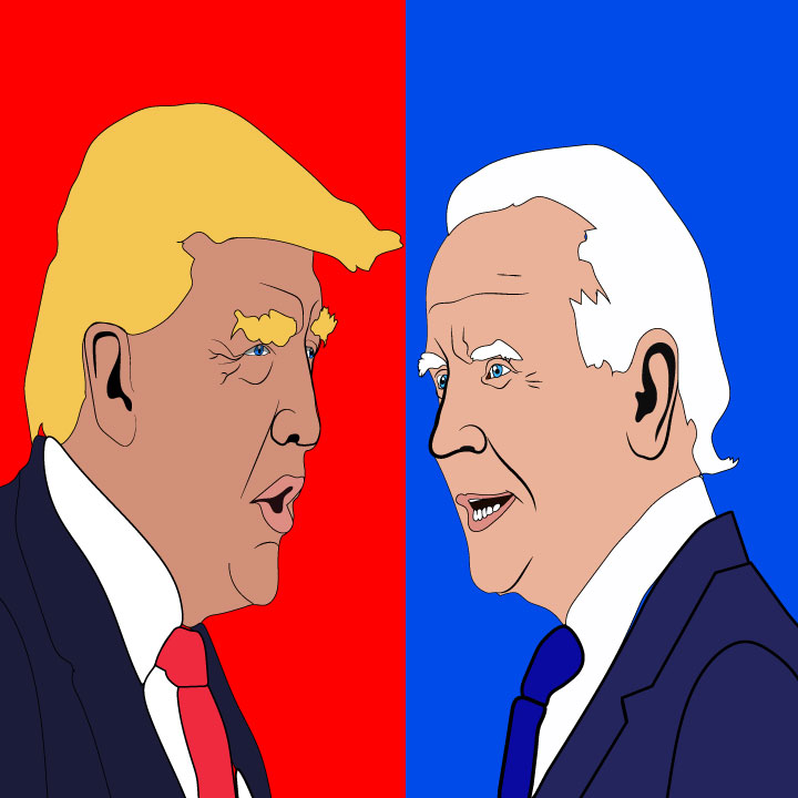 Presidential candidate illustration