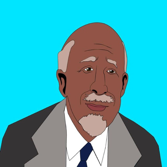 Kaelen Felix illustrates WEB DUBOIS FOR 360 MAGAZINE