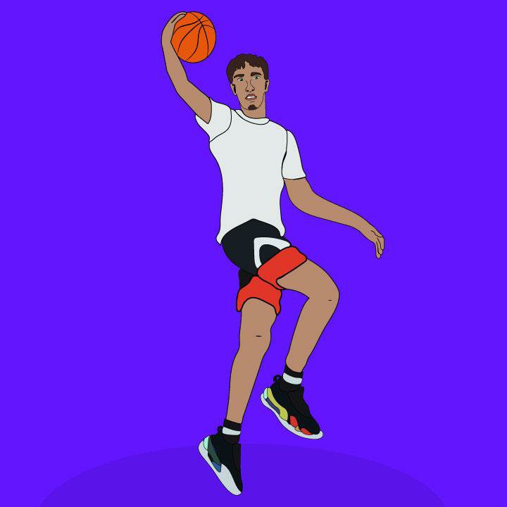 LaMelo Ball illustration by Kaelen Felix for 360 magazine
