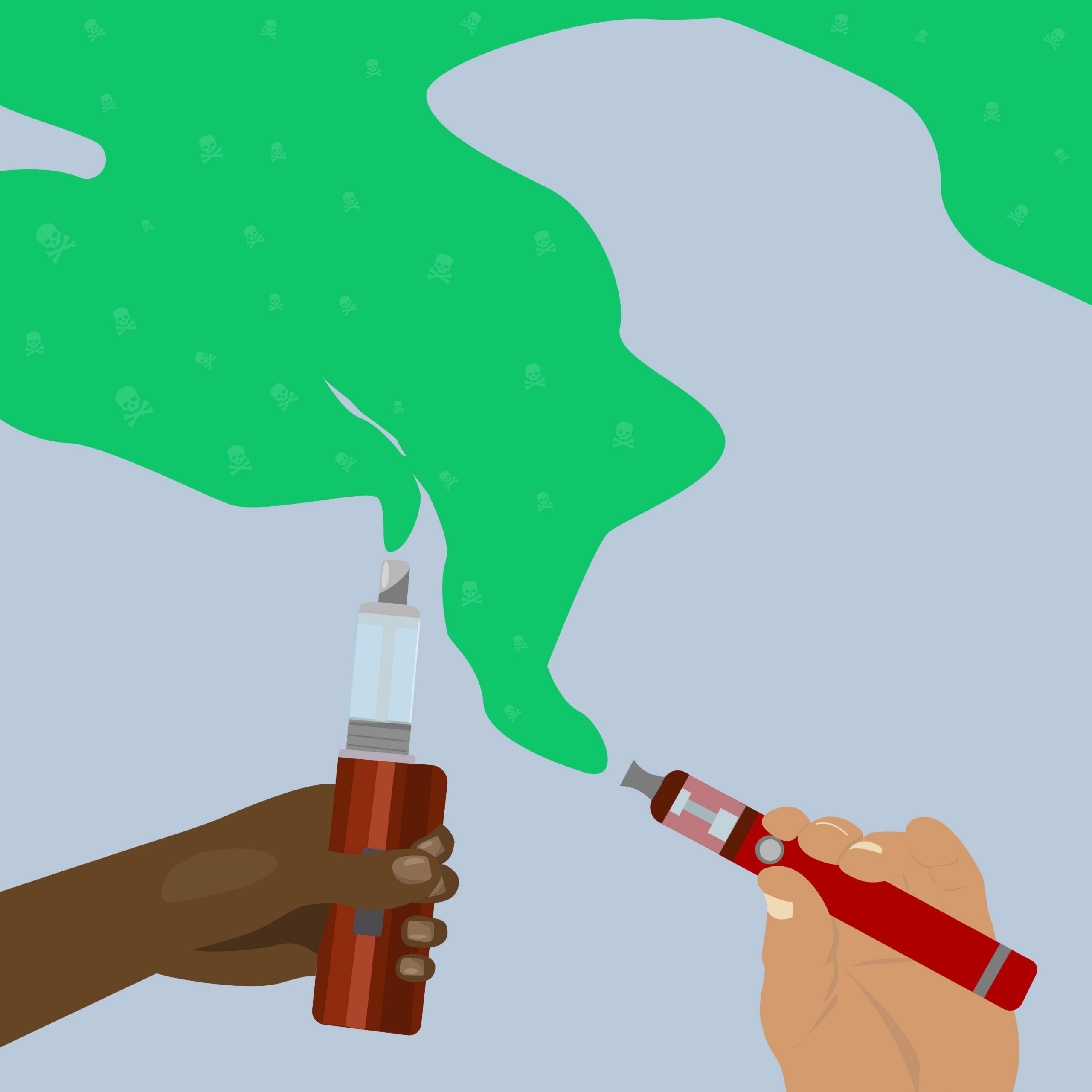 CBD vape cartridge illustration for 360 MAGAZINE