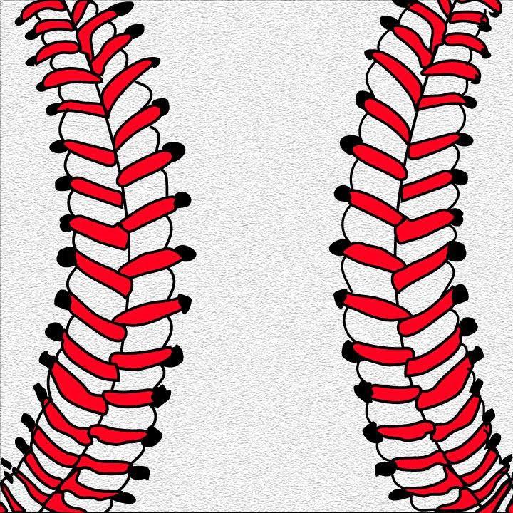 Baseball illustration for 360 mag by Kaelen Felix