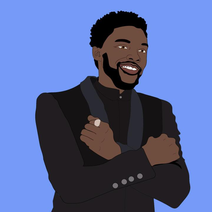 Kaelen Felix illustrates Chadwick Boseman of Black Panther for 360 magazine article