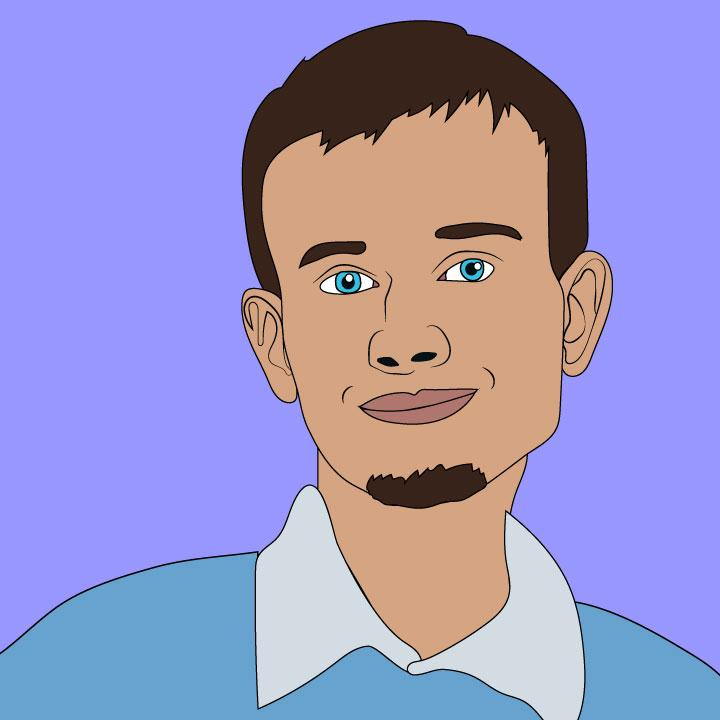 Vitalik Buterin illustration by Kaelen Felix for 360 magazine