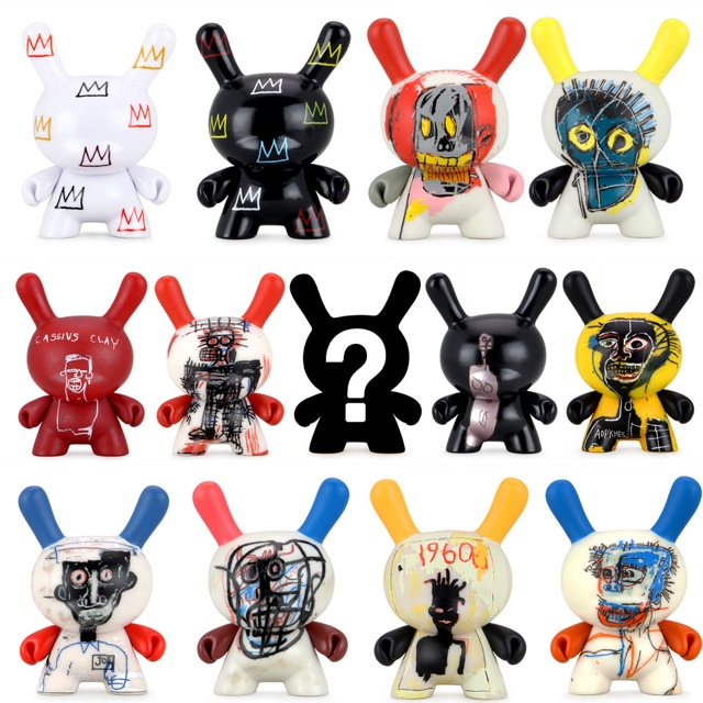 Kidrobot x Jean-Michel Basquiat  Faces Dunny Art Figure Series 2