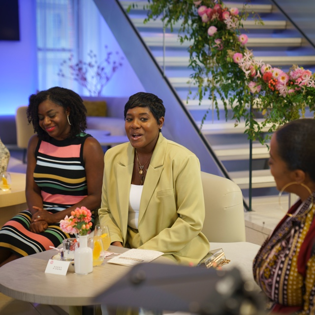 Dominique Boseman and Sandy Pierre at the WOC FashTech Brunch.