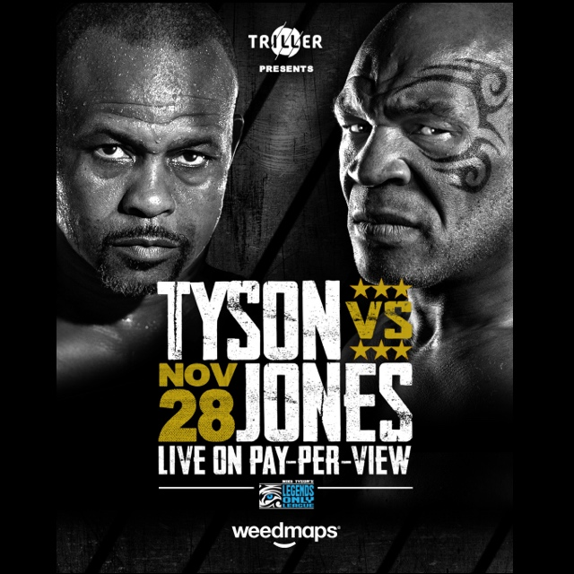 Tyson vs. Jones Jr. hosted by Triller and Weedmaps as announced by 360 MAGAZINE