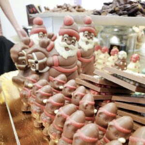 Chocolate Santas by Patrick Cooper for 360 Magazine