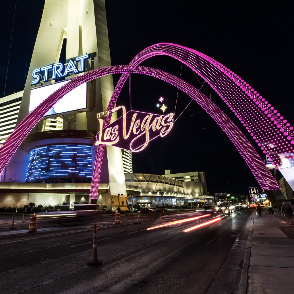 Downtown Gateway Arches on Las Vegas Boulevard Photo Courtesy of City Of Las Vegas
