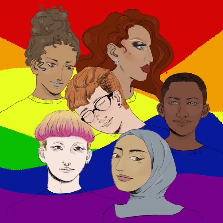 LGBTQ Illustration for 360 Magazine by Gabriella Archuleta