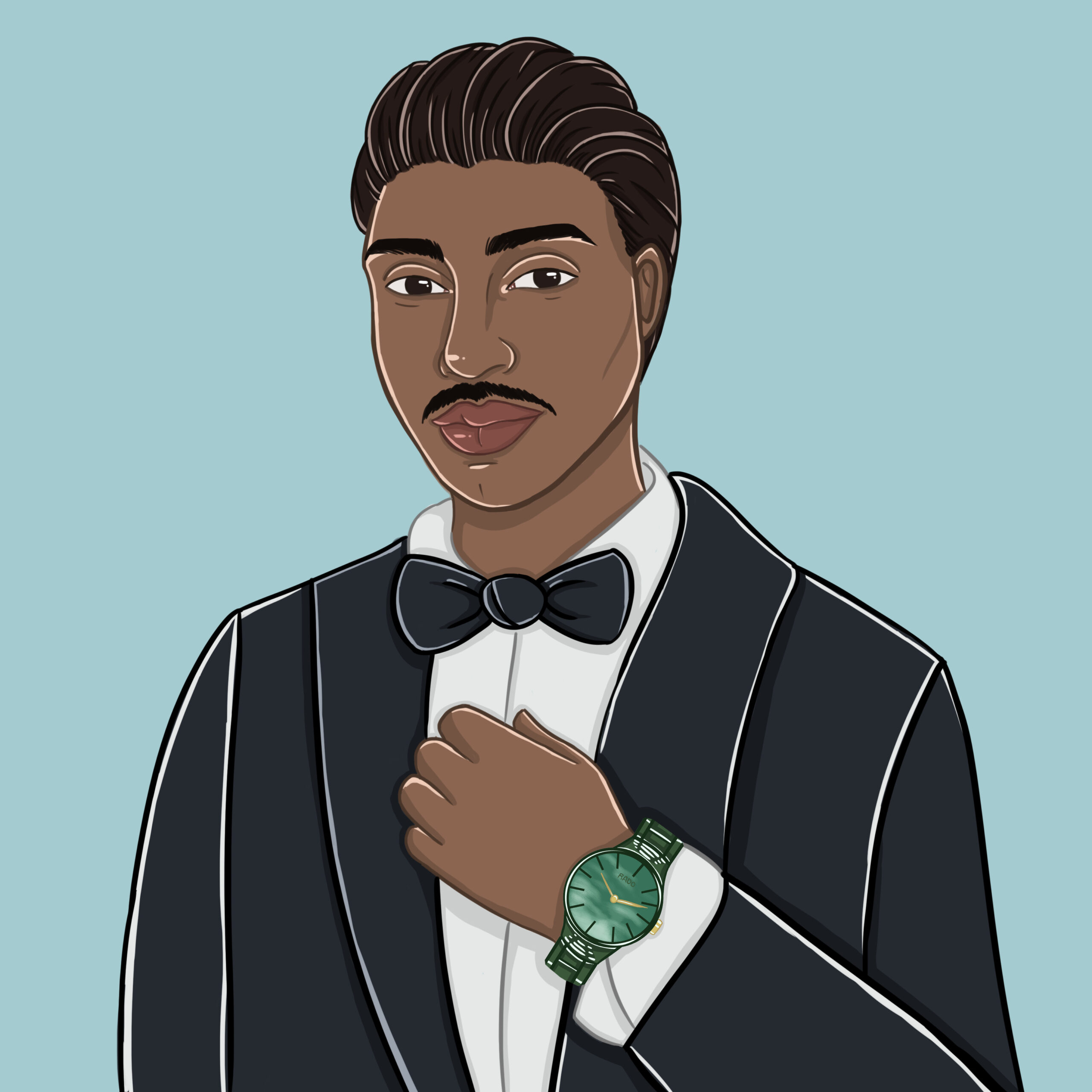 Vaughn lowery illustrated by Allison Christensen for hair article