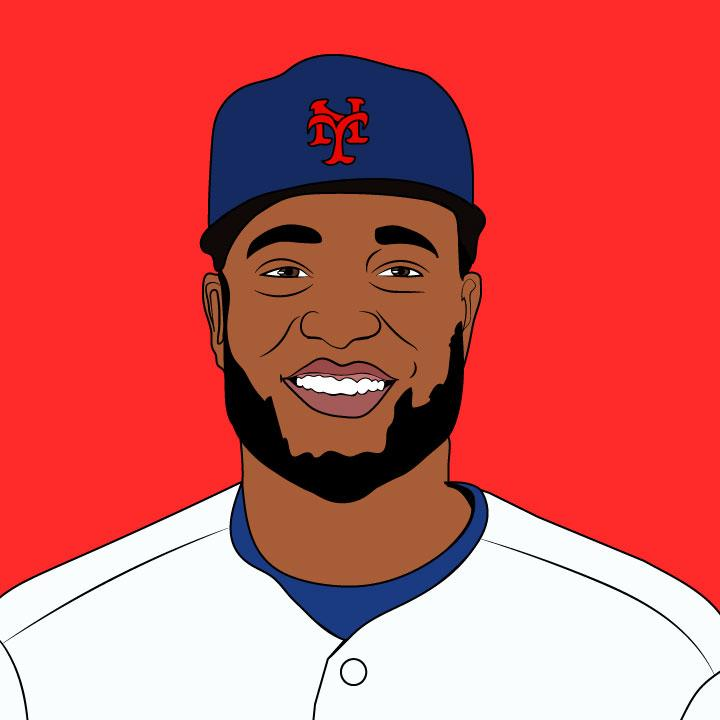 Robinson Cano MLB illustration by Kaelen Felix for 360 Magazine