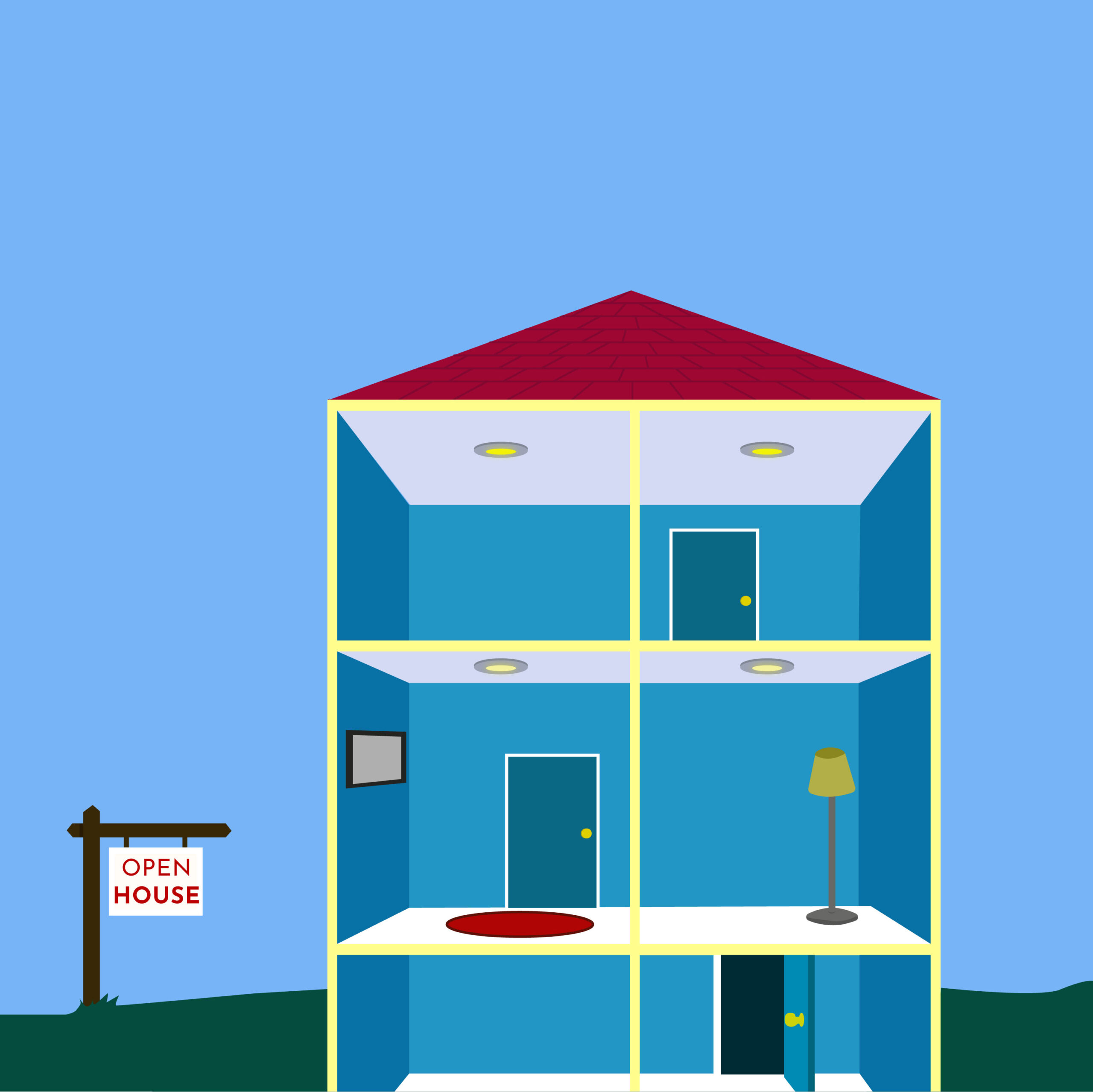 Real Estate article illustration by Rita Azar for 360 magazine
