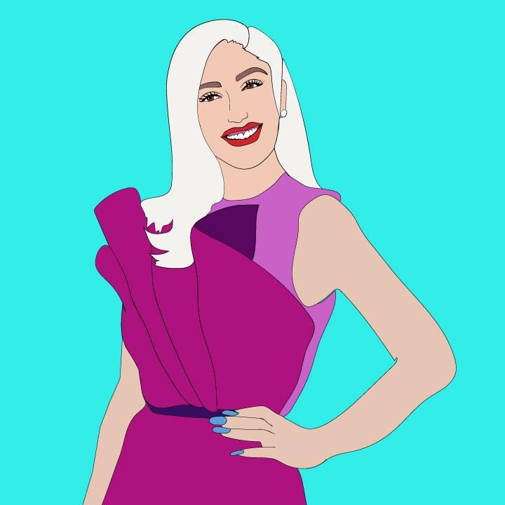 Gwen Stefani illustration for 360 Magazine by Kaelen Felix