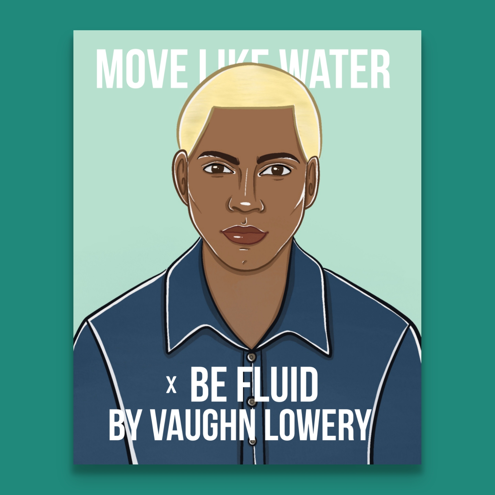 Vaughn Lowery illustration by Allison Christensen for his book Move Like Water x Be Fluid produced by 360 MAGAZINE