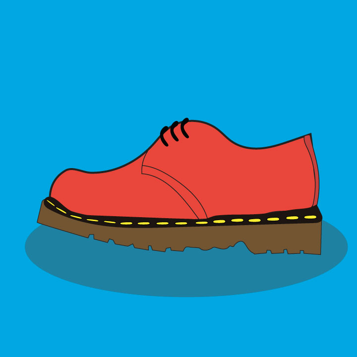 Shoe article illustration by Kaelen Felix for 360 magazine