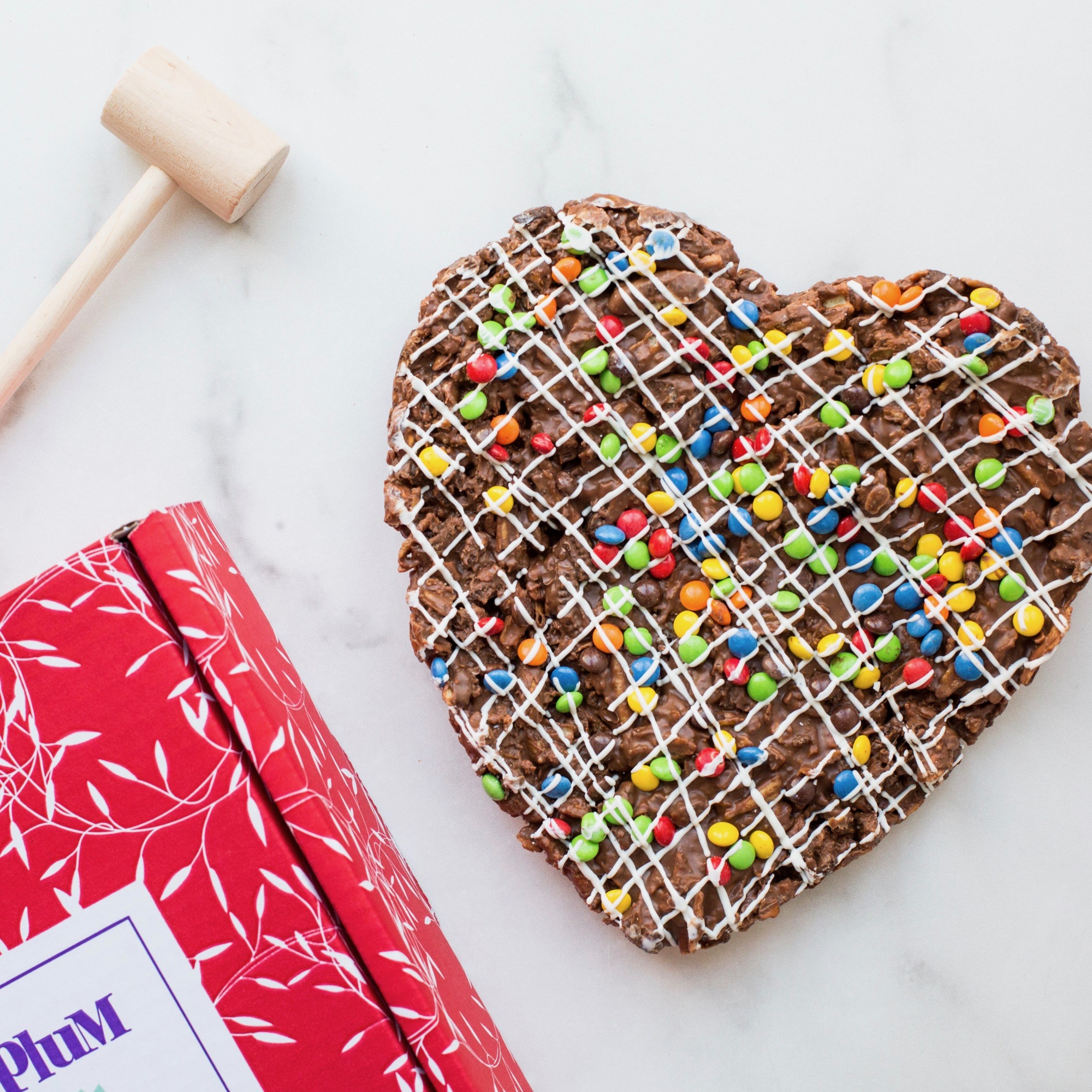 Chocolate Heart Pizza Image
