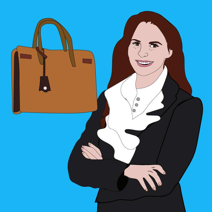 Business woman article illustration by Kaelen Felix for 360 Magazine