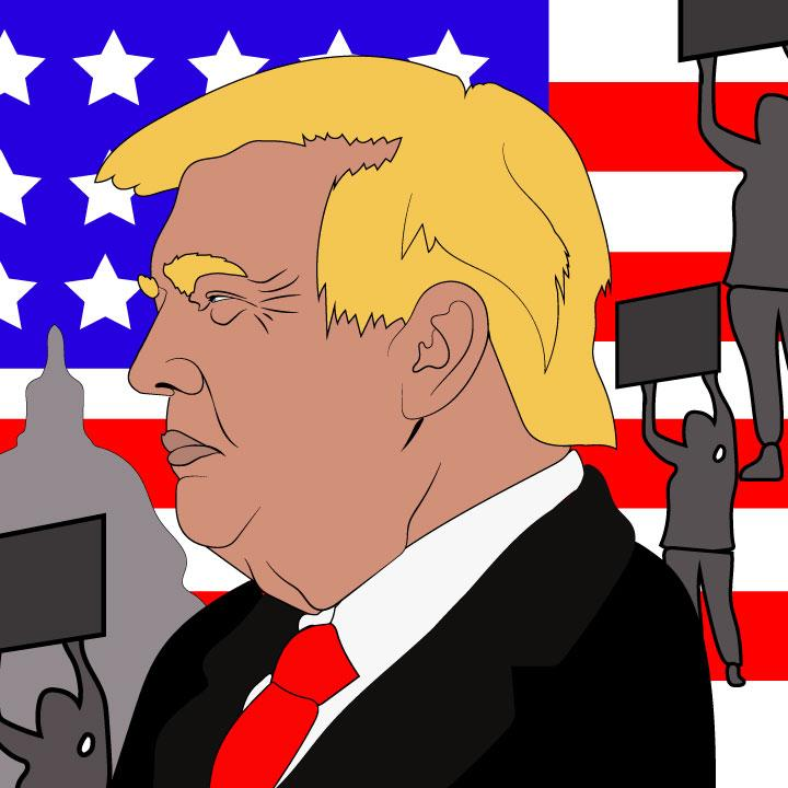Donald Trump illustration by Kaelen Felix for 360 MAGAZINE