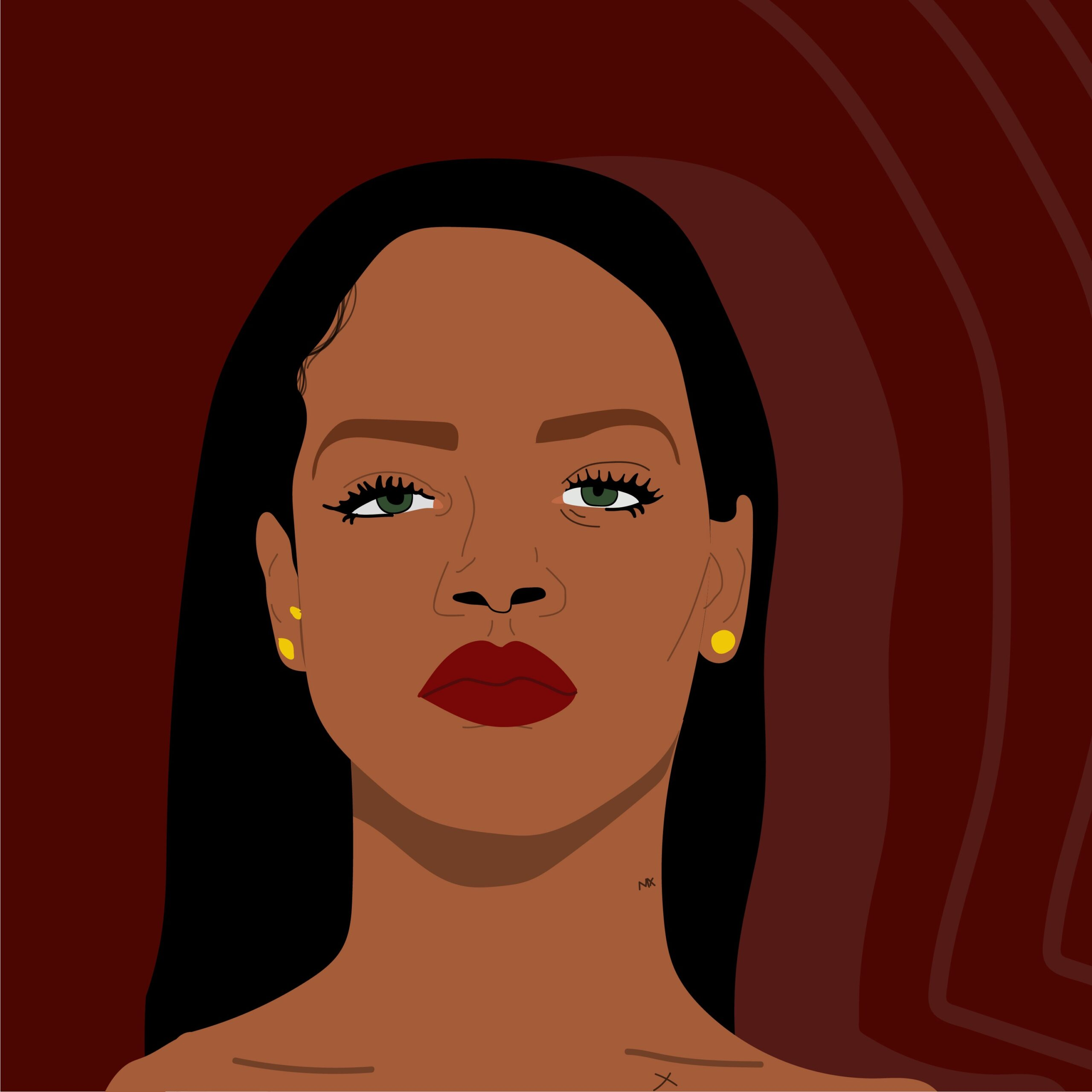 Rhianna Illustration for 360 Magazine