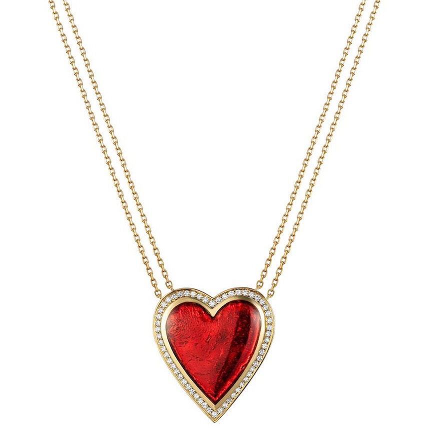Heart necklace from the house of luxury