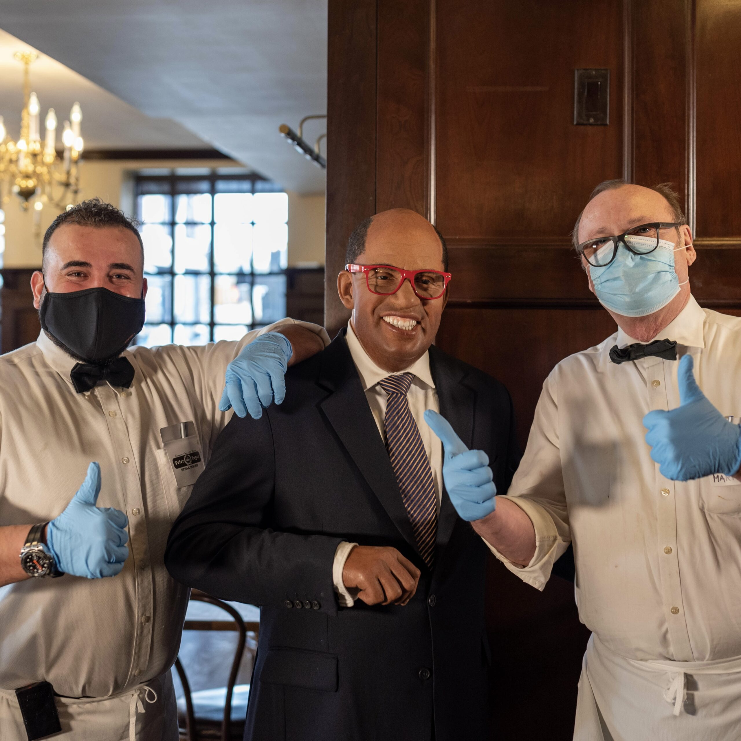 Al Roker by Peter Luger Steakhouse & Madame Tussauds for 360 Magazine