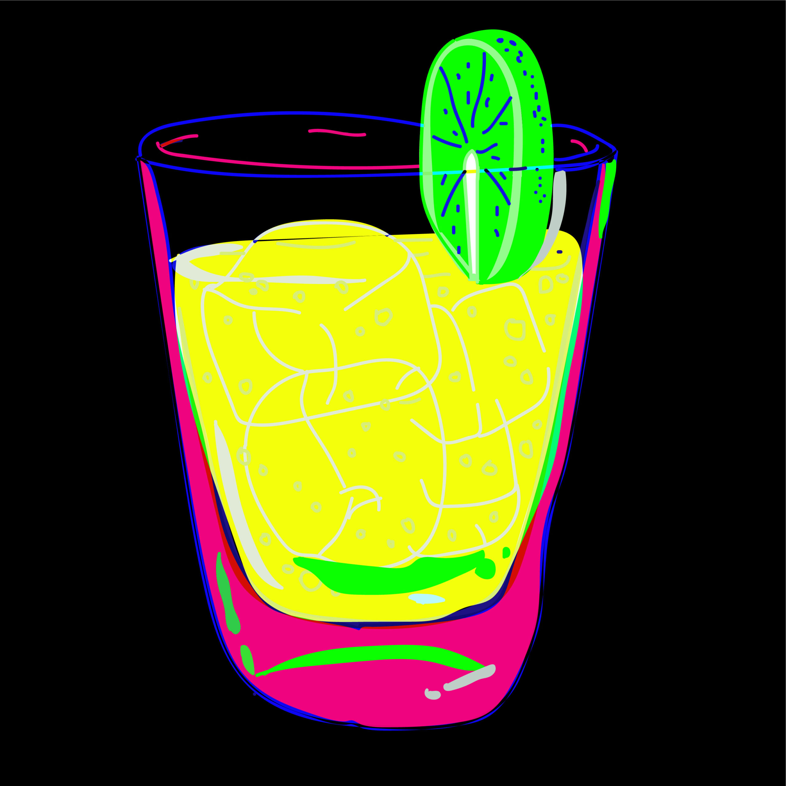 cocktail illustration by Mina Tocalini for 360 Magazine