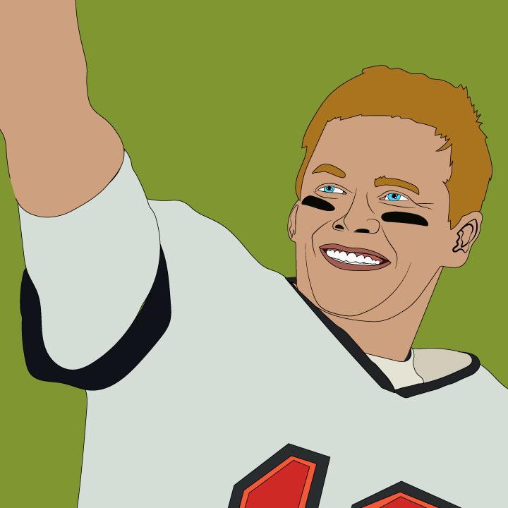 Tom Brady illustration by Kaelen Felix for 360 MAGAZINE super bowl article