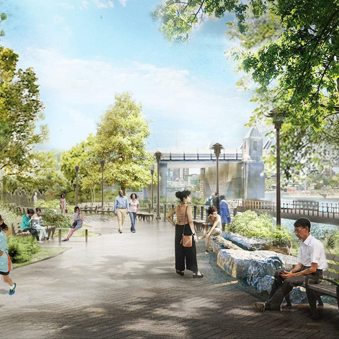 Bronx Point Renderings by John DeSio (Risa Heller Comms) for use by 360 Magazine