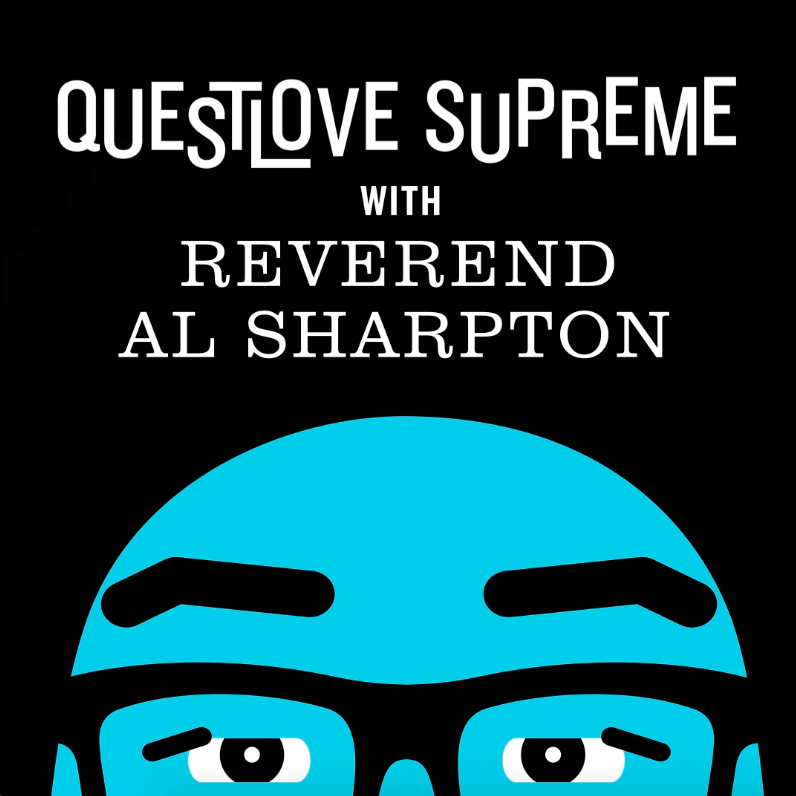 Questlove Supreme with Reverend Al Sharpton illustration for use by 360 Magazine