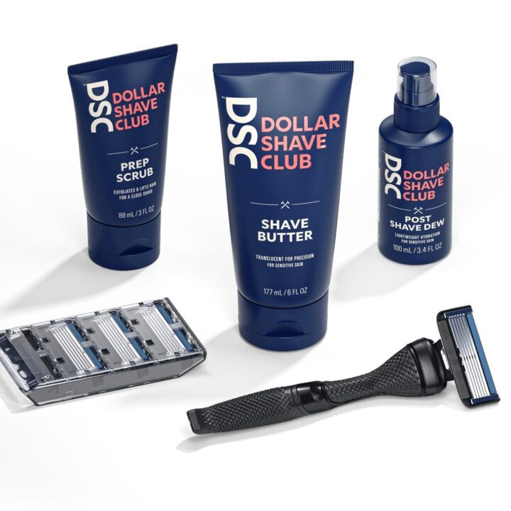 Dollar Shave Club Gift Set image by Abbey Tozer at Weber Shandwick for use by 360 Magazine