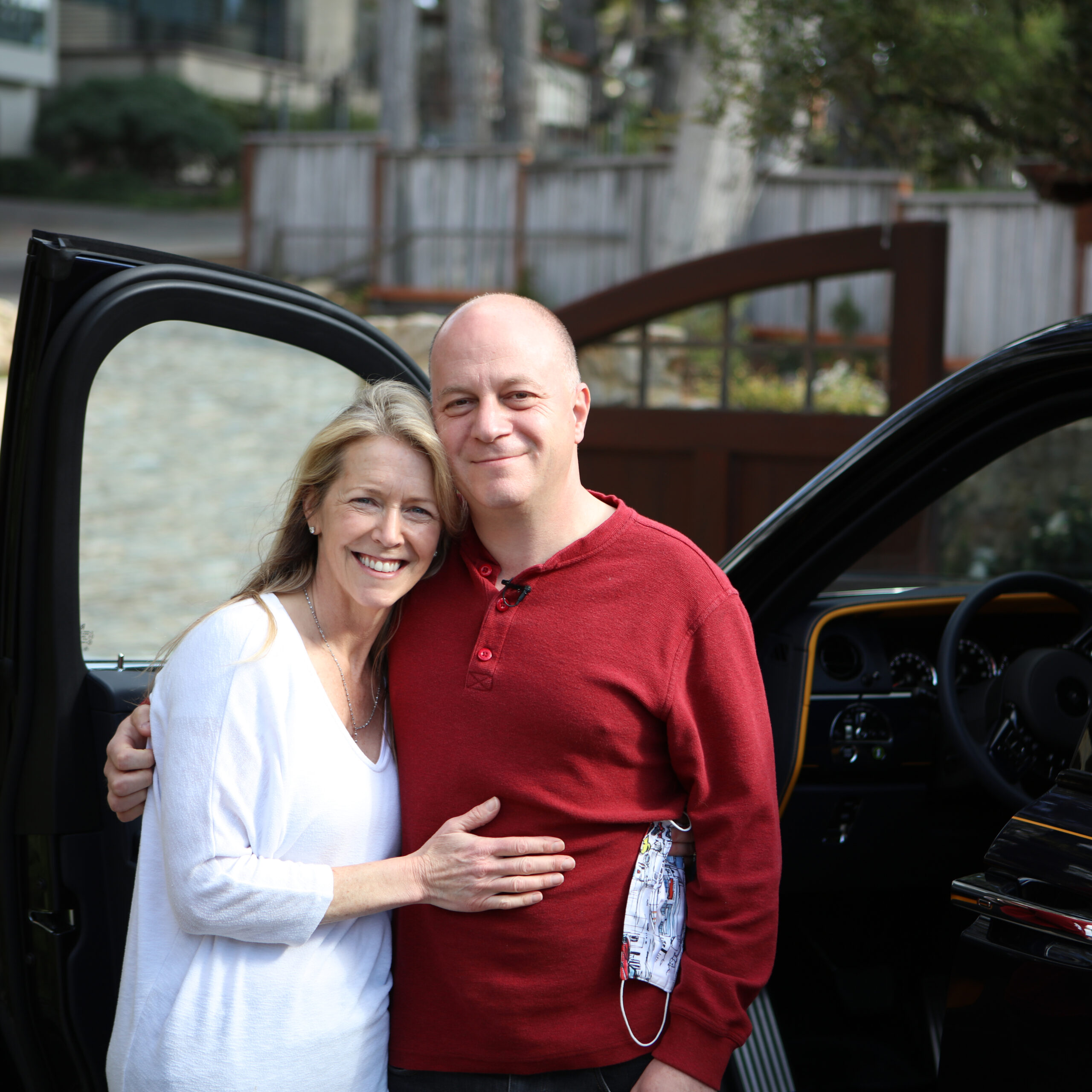 Benjamin and Christine Sloss and their BESPOKE CULLINAN BLACK BADGE for by Rolls Royce for use by 360 Magazine