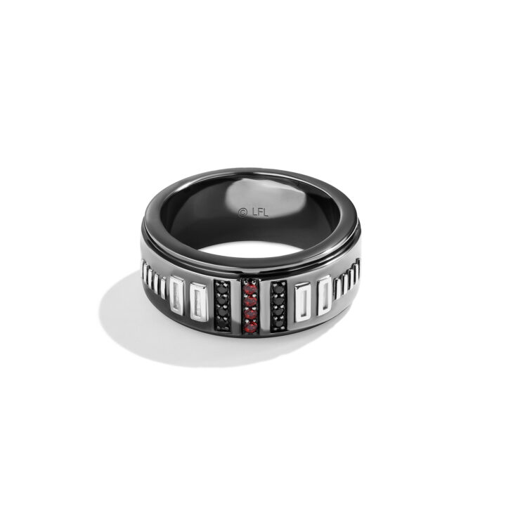DARK ARMOR MEN'S RING from Star Wars I am Your Father Jeweltry collection image via ATELIER Creative Services and Renaissance Global Limited and Lucas Film TLD. for use by 360 Magazine