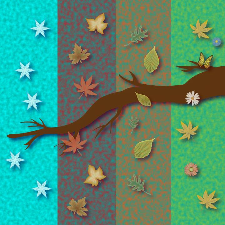 4 Seasons illustration by Heather Skovlund for 360 Magazine
