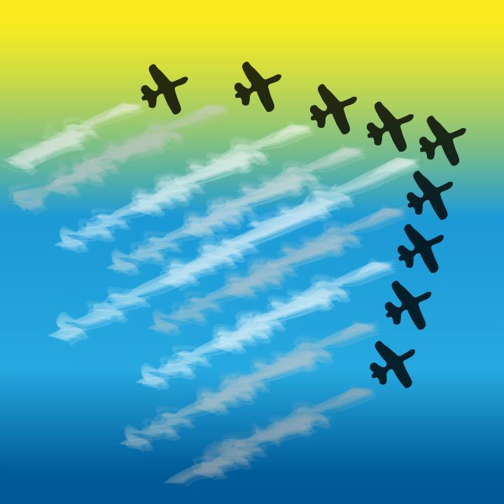 Aerobatics illustration by Heather Skovlund for 360 Magazine