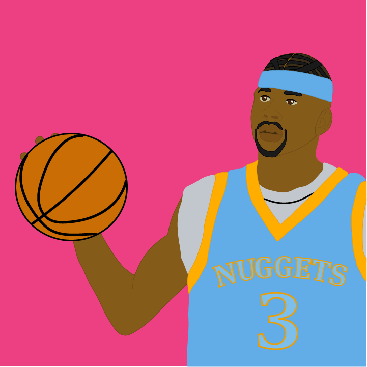 Allen Iverson illustration by Heather Skovlund for 360 Magazine
