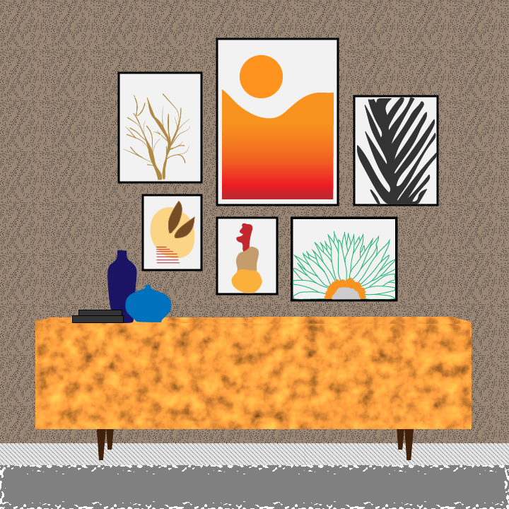 Art Exhibition illustration by Heather Skovlund for 360 Magazine