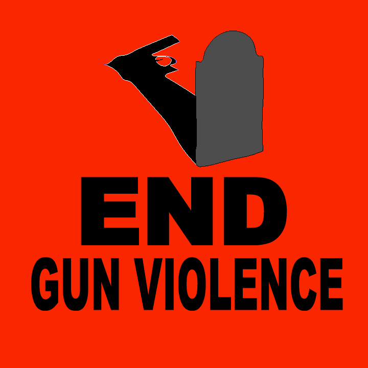 End Gun Violence illustration by Heather Skovlund for 360 Magazine