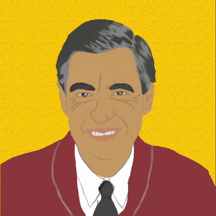 Mister Rogers illustration by Heather Skovlund for 360 Magazine