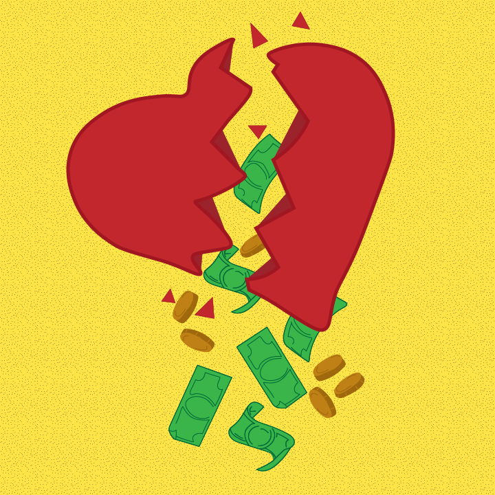 Money & Relationship illustration by Heather Skovlund for 360 Magazine