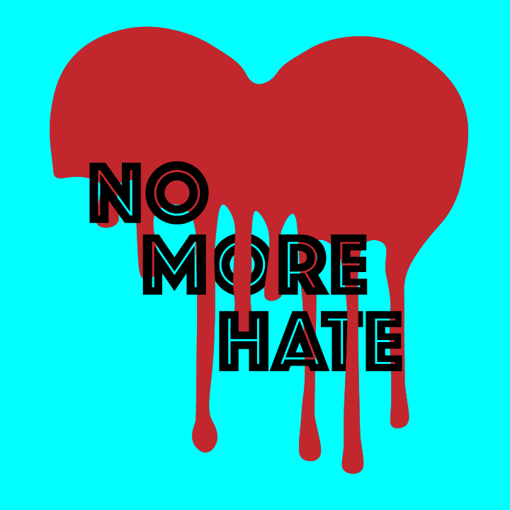 No More Hate illustration by Heather Skovlund for 360 Magazine