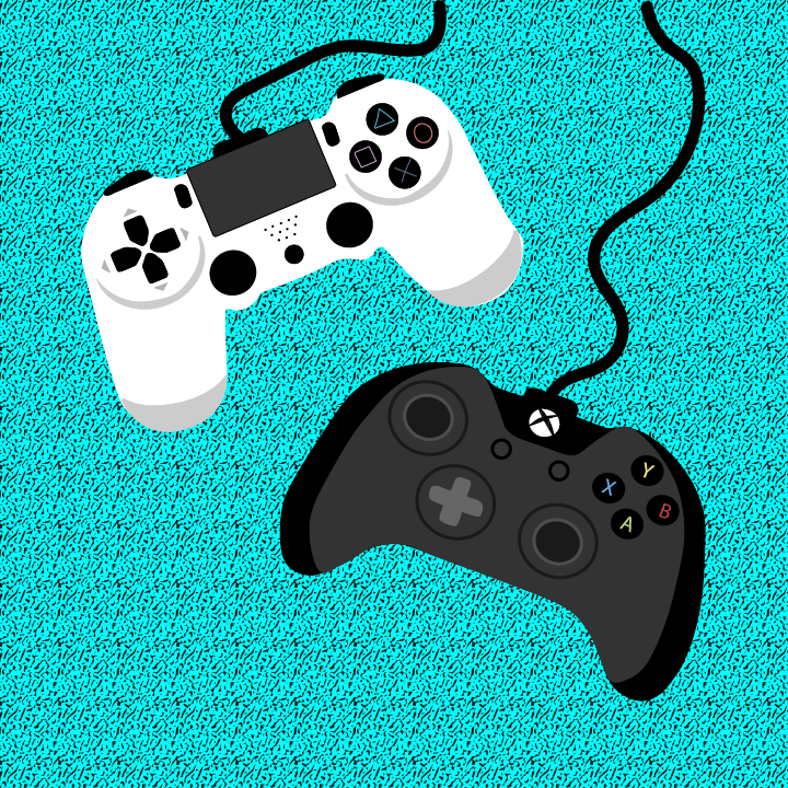 Gaming Controllers illustration by Heather Skovlund for 360 Magazine