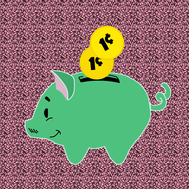 Piggy Bank illustration by Heather Skovlund for 360 Magazine